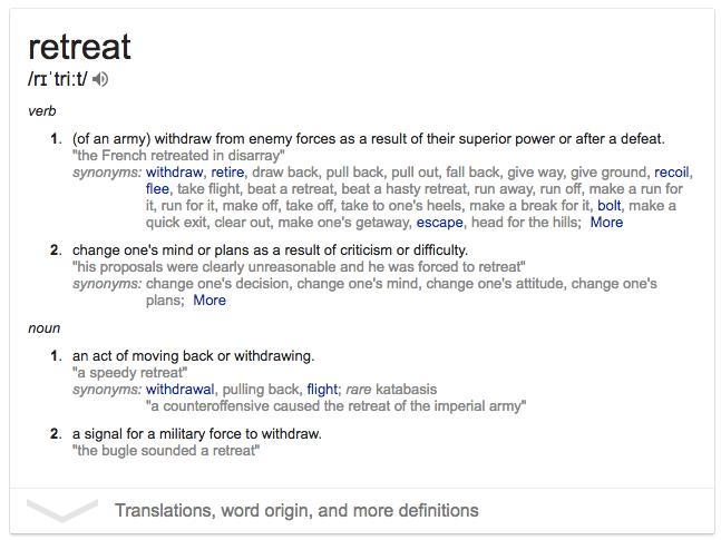 retreat definition